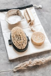 beard brush and soap